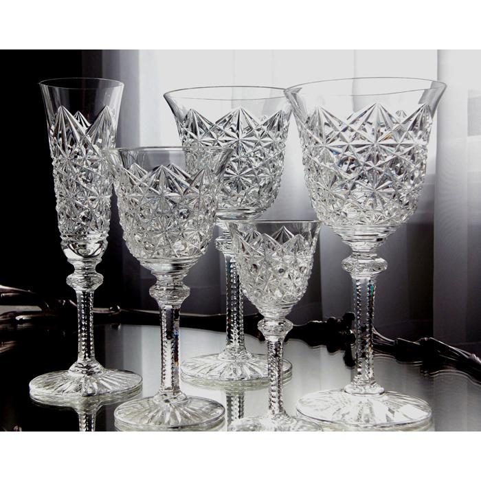 サンルイ オーダーカットワイングラス<br /> フランス 1940年頃 クリスタルガラス<br />