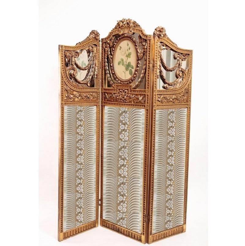 ナポレオンⅢ世 金箔スクリーン <br /> 1860年代 フランス