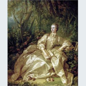 ブーシェ描くポンパドゥール公爵夫人(1721-1764)