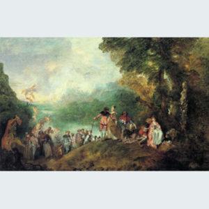 8.ロココの名画_3ヴァト―「シテール島への巡礼」