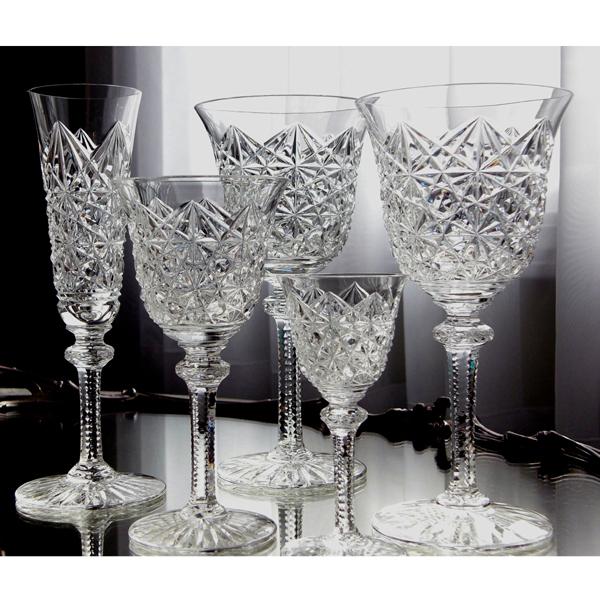 サンルイ オーダーカットワイングラス<br /> フランス 1940年頃<br /> クリスタルガラス