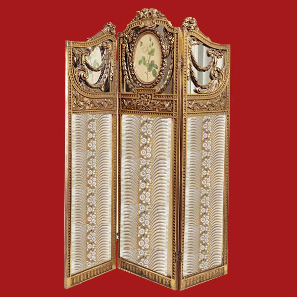 ナポレオンⅢ世 金箔スクリーン 1860年代 フランス