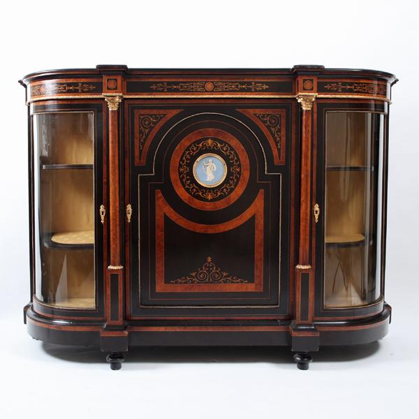 ヴィクトリアン ジャスパーウェア陶板装飾クレデンザ<br /> イギリス 1860年頃<br />