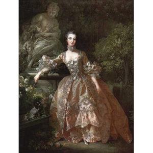 6.ロココ画の巨匠ブーシュによ「Madame de pompadour 」1759 Wallace Collection