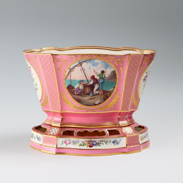 """ミントン オランダ花瓶(1873‐1880)<br /> MINTON """"Rose Pompadour"""" Vase Hollandois<br />"""