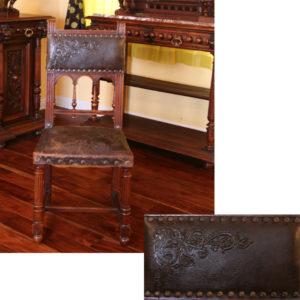 8.装飾された本革の椅子