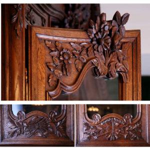 3.ルイ16世様式の繊細な彫刻