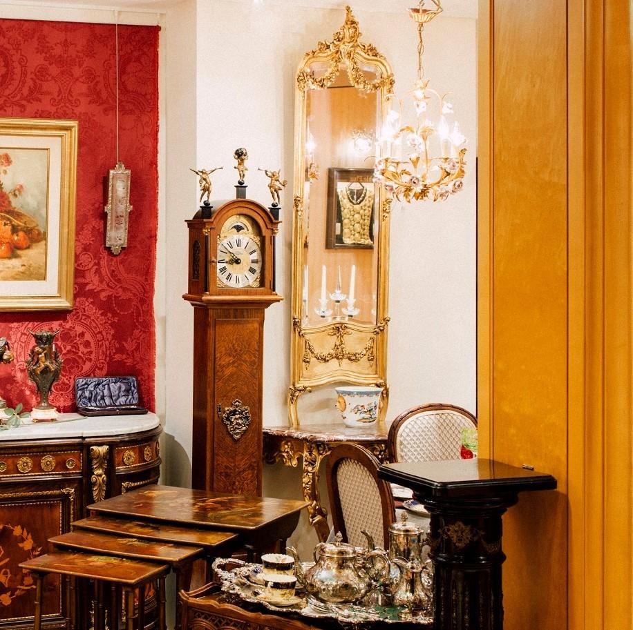 ナポレオンⅢ世<br /> ルイ15世様式金箔ミラー付コンソールテーブル<br /> 1870年代 フランス 金箔貼木<br />