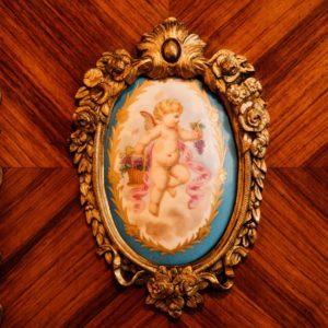 2.神バッカス「天使」陶板