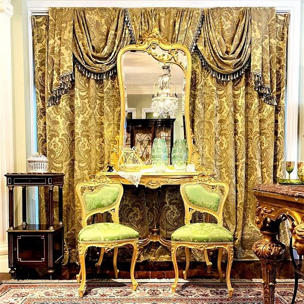 ナポレオンⅢ世 ルイ15世様式金箔サロンスイート(4点セット)<br /> フランス 1870年代